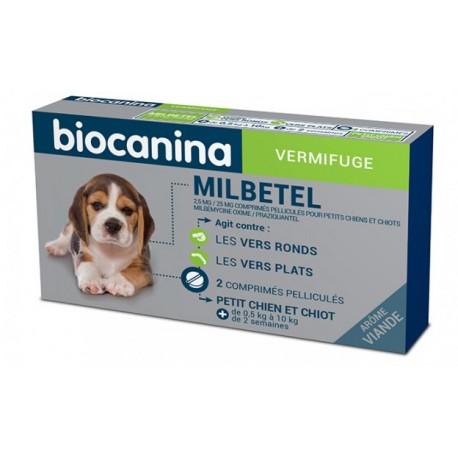 MILBETEL 2.5 mg /25 mg PETIT CHIEN -CHIOT bte / 2 cp