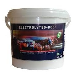 ELECTROLYTES DOSE en pot de 1 ou 4 kg ou pack de 2 seringues