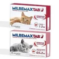 Milbemaxtab chat + 2kg bte / 2 cp