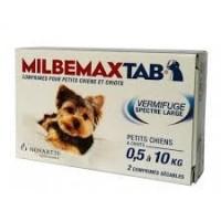 Milbemaxtab chiots petits chiens bte / 2 cp