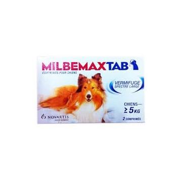 Milbemaxtab chien + 5kg bte / 2 cp