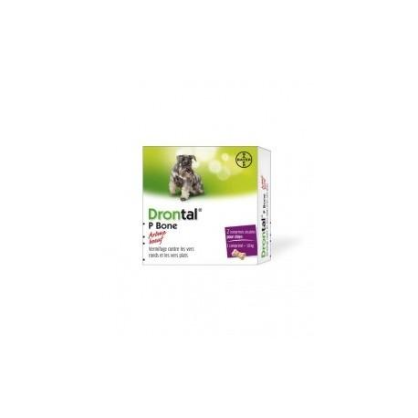 Drontal P Bone chien 2 comprimés