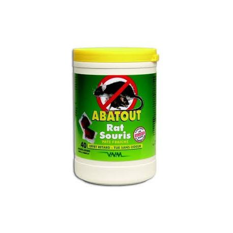 ABATOUT ANTI-RAT ET SOURIS en pâte boite de 400 g