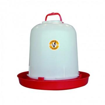 ABREUVOIR PLASTIQUE POULE ANSE en 5 ou 10 litres et SANS ANSE 10 l