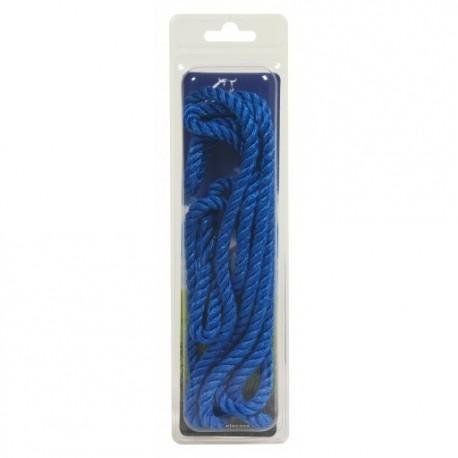 CORDELETTE PERLON bleue ou rouge       2 m       (101107)